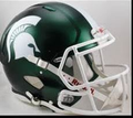 Michigan State Spartans Satin Green Mini Speed Helmet