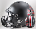 Ohio State Buckeyes Satin Black With Red Buckeyes Authentic Speed Helmet