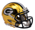 "2018 ""CHROME"" Edition GREEN BAY PACKERS NFL Riddell SPEED Mini Football Helmet"