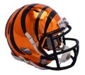 "2018 ""CHROME"" Edition CINCINNATI BENGALS NFL Riddell SPEED Mini Football Helmet"