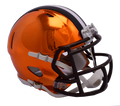 "2018 ""CHROME"" Edition CLEVELAND BROWNS NFL Football Riddell SPEED Mini Helmet"