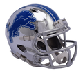 "2018 ""CHROME"" Edition DETROIT LIONS NFL Riddell SPEED Mini Football Helmet"