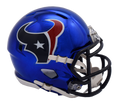 "2018 ""CHROME"" Edition HOUSTON TEXANS NFL Riddell SPEED Mini Football Helmet"