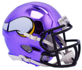 "2018 ""CHROME"" Edition MINNESOTA VIKINGS NFL Riddell SPEED Mini Football Helmet"