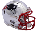"2018 ""CHROME"" Edition NEW ENGLAND PATRIOTS NFL Riddell SPEED Mini Football Helmet"