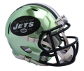 "2018 ""CHROME"" Edition NEW YORK JETS NFL Riddell SPEED Mini Football Helmet"