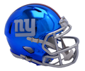"2018 ""CHROME"" Edition NEW YORK GIANTS NFL Riddell SPEED Mini Football Helmet"