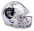 "2018 ""CHROME"" Edition OAKLAND RAIDERS NFL Riddell SPEED Mini Football Helmet"