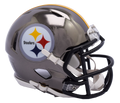 "2018 ""CHROME"" Edition PITTSBURGH STEELERS NFL Riddell SPEED Mini Football Helmet"