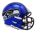 "2018 ""CHROME"" Edition SEATTLE SEAHAWKS NFL Riddell SPEED Mini Football Helmet"