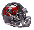 "2018 ""CHROME"" Edition TAMPA BAY BUCCANEERS NFL Riddell SPEED Mini Football Helmet"