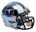 "2018 ""CHROME"" Edition TENNESSEE TITANS NFL Riddell SPEED Mini Football Helmet"