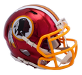 "2018 ""CHROME"" Edition WASHINGTON REDSKINS NFL Riddell SPEED Mini Football Helmet"