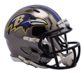 "2018 ""CHROME"" BALTIMORE RAVENS NFL FULL SIZE SPEED REPLICA HELMET"