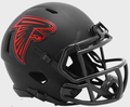 ATLANTA FALCONS 2020 ( BLACK ECLIPSE ) - NFL Riddell SPEED Mini Football  Helmet