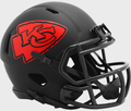 KANSAS CITY CHIEFS 2020 ( BLACK ECLIPSE ) - NFL Riddell SPEED Mini Football Helmet