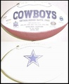 Dallas Cowboys Full Size Logo Football