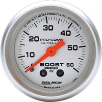 Autometer Ultra-Light 0-60PSI Boost Gauge