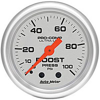 Autometer Ultra-Light 0-100PSI Boost Gauge