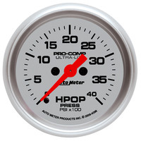 Autometer Ultra-Light HPOP Pressure Gauge