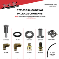 FASS FUEL SYSTEMS DIESEL FUEL BULKHEAD AND VITON SUCTION TUBE KIT (STK-1005)