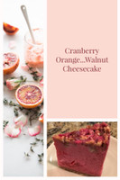 Cranberry Orange Walnut Cheesecake
