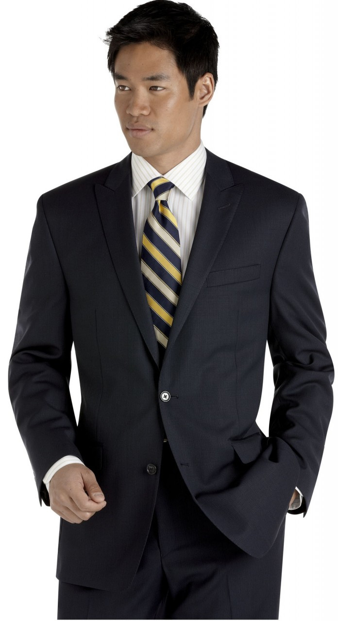 price remains stable replicas Good Prices Men's Calvin Klein Pinstripe Suit - Navy