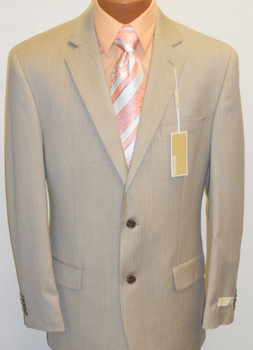 Men's Michael Kors Pinstripe Suit - Tan