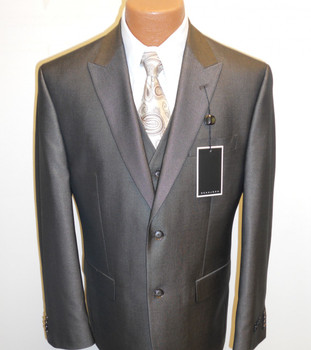 Men's Sean John Vested Suit - Brown