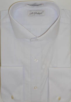Men's Spread Collar Dress Shirt - White