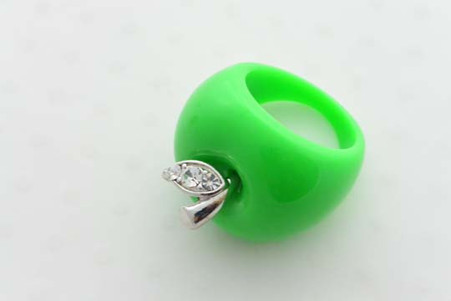 Granny Smith Apple Ring Green