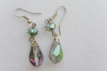 Tear Drop Crystal Earrings Emerald