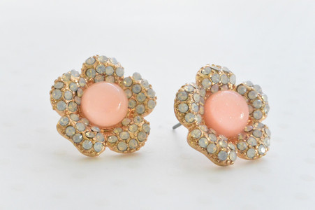 Baby Pink Flower Earrings