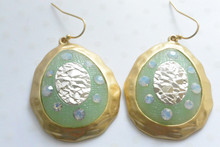 Mint Green Medallion Earrings