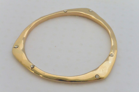 Triangle Bangle Bracelet Gold Tone