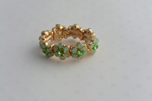 Flower Wreath Ring  Mint Green