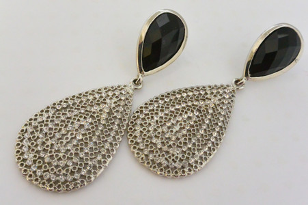 A Night to Remember Earrings with Brilliant Sparkling Rhinestones