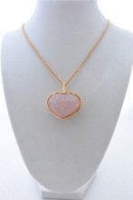 Rose Quartz Heart Shape Necklace