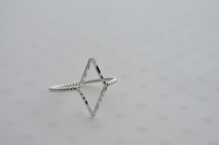 Diamond Cut Midi Ring Silver Tone