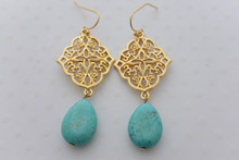 Bohemian Goddess Turquoise Earrings