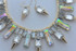 Crystal Icicle Necklace and Earrings