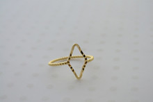 Diamond Midi Ring Gold Tone