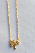 Tree of Life Dainty Necklace in Gold
