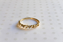 Dainty Hugs and Kisses Ring