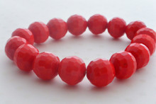 Swarovski Bead Luminous Bracelet Stalkers in Ruby Red
