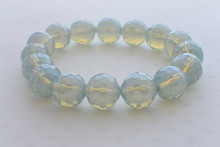 Swarovki Bead Luminous Bracelet in Smoky Grey-Blue