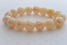 Swarovki Bead Luminous Bracelet in Champagne
