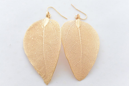 The Real Fallen Leaf Earrings in Gold