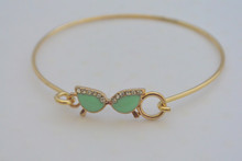 Mint Green Glasses Charm Bracelet
