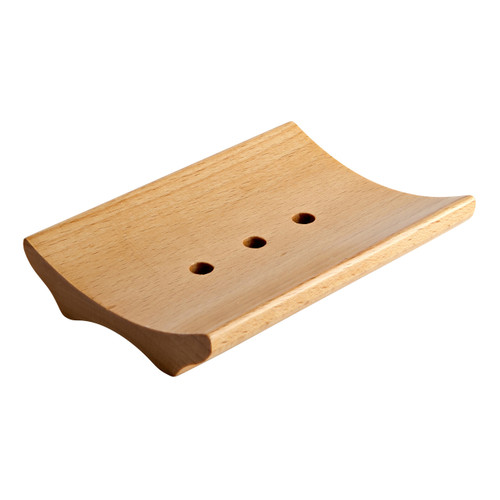 Wood Soap Dish - Curved